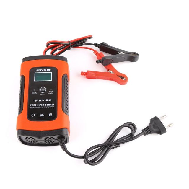 Intelligent Battery Charger 12V 5A Pulse Repair Truck Storage With LCD Display