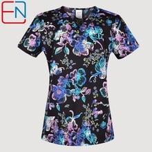 Hennar femmes gommage uniformes en 100% coton tissu avec taille xxs 3xl imprimés floraux femmes gommage hauts