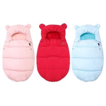 0-12M śpiwór dla dziecka wózek zimowy wiatroszczelny grube śpiwory dla niemowląt wózek inwalidzki koperty noworodki ciepły Footmuff tanie i dobre opinie Unisex W wieku 0-6m 7-12m 13-24m 25-36m 3-6y 7-12y 12 + y CN (pochodzenie) Sleepsacks Czesankowej Stałe COTTON baby