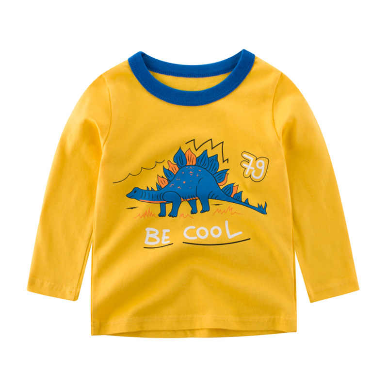 100% Kapas Anak-anak T-shirt 2019 Boys Gadis Lucu Kartun Lengan Panjang Atasan Musim Gugur Musim Dingin Kaus untuk Anak-anak Anak T kemeja