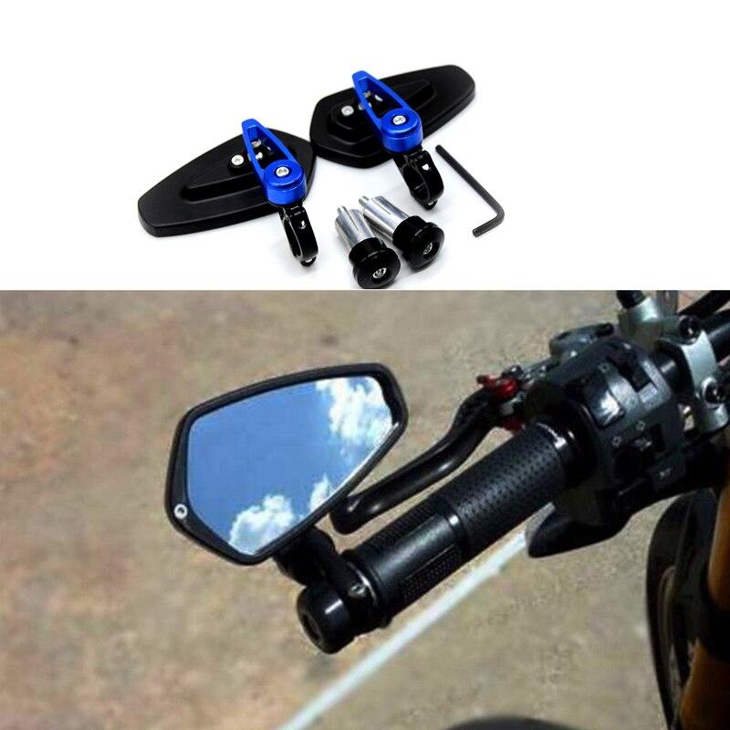Зеркало мотоцикла Руль заднего вида бар концы зеркала для YAMAHA R1 FZR400 BT1100 XJR400 XJR1200 MT 07 09 10 FZ 07 09