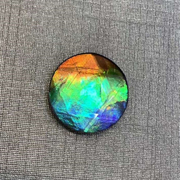 colorful round loose gemstone for women jewelry making natural Canada ammolite 2