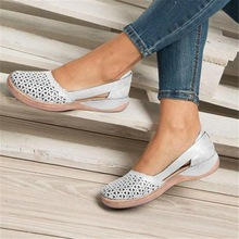 Pu Leather Shoes Women Summer Women Flats Shoes Women Cut Out Loafers Slip On Ballet Flats Ballerina Flats Dropshipping william landay mission flats