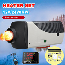 8KW Car Heater Set 12V/24v Diesels Fuel Air Heater Parking Heater With Remote Control LCD Monitor For Motorhome Trailer Trucks