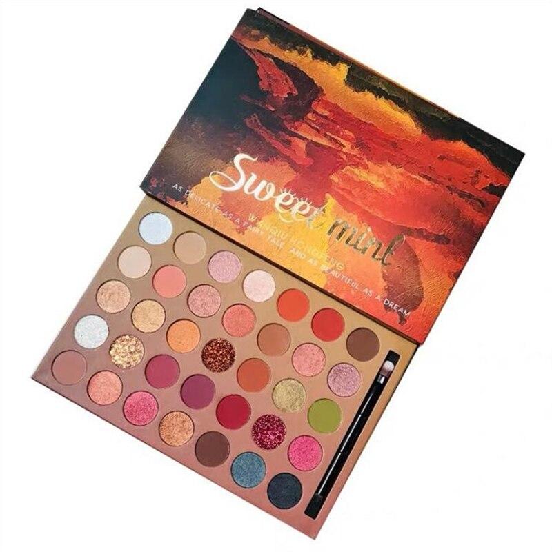 Makeup Set 35 Colors Glitter Eyeshadow Palette Pressed Eyeshadow Pallete Nude Color Pigment Matte Shimmer Long Lastin Eye Shadow