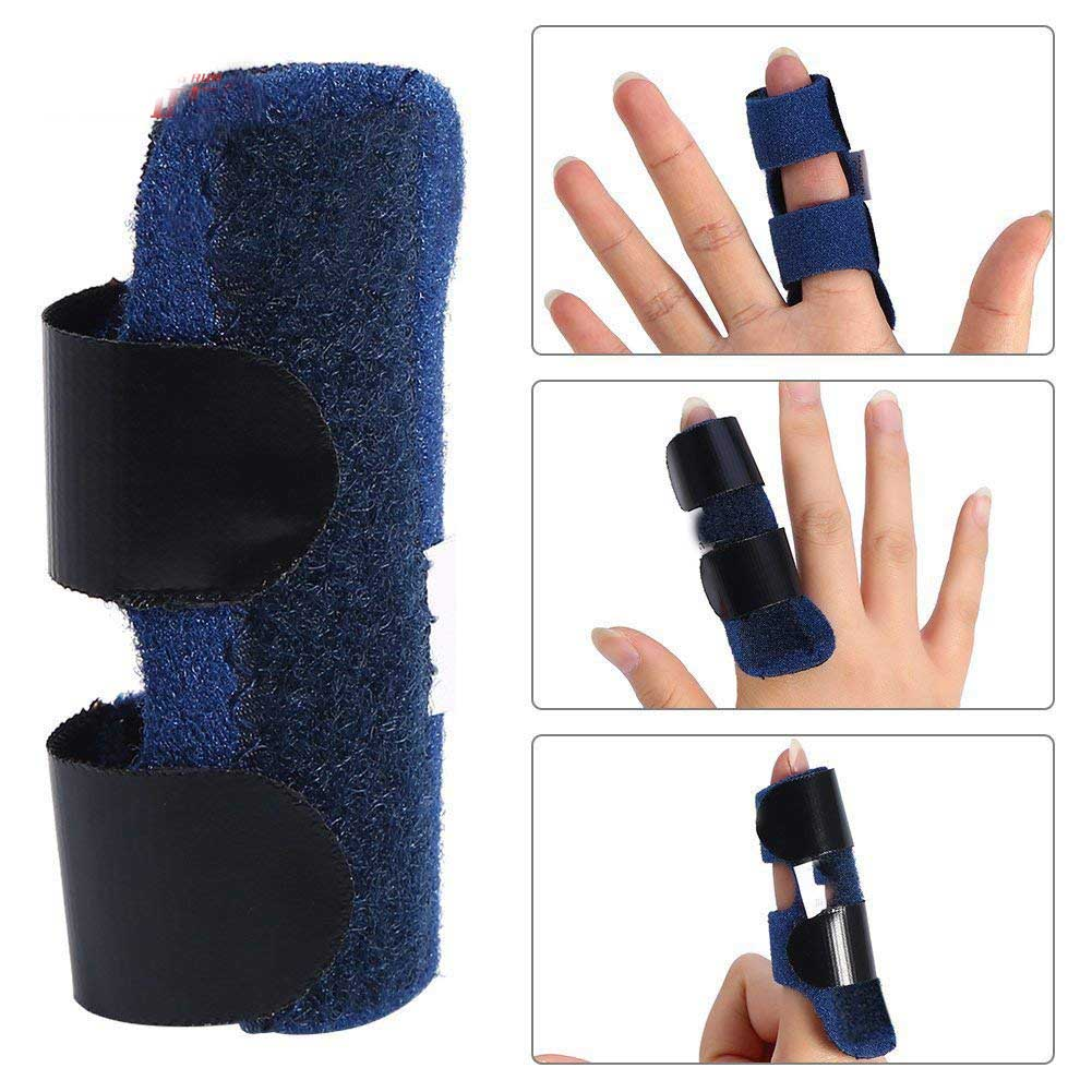 1Pcs Pain Relief Aluminium Finger Splint Fracture Protection Brace Corrector Support With Adjustable Tape Bandage Finger Support