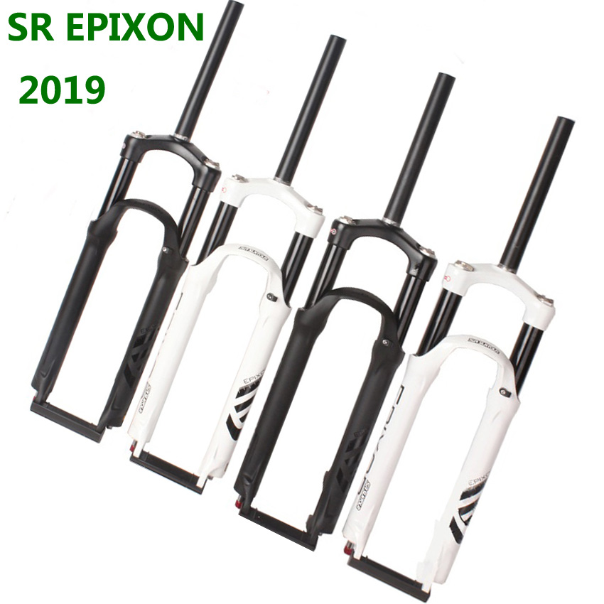 2019 EPIXON SR SUNTOUR Bike Fork EPICON 26/<font><b>27.5</b></font>/29er Mountain <font><b>MTB</b></font> Bicycle Fork <font><b>suspension</b></font> of air damping Front fork travel 100mm image