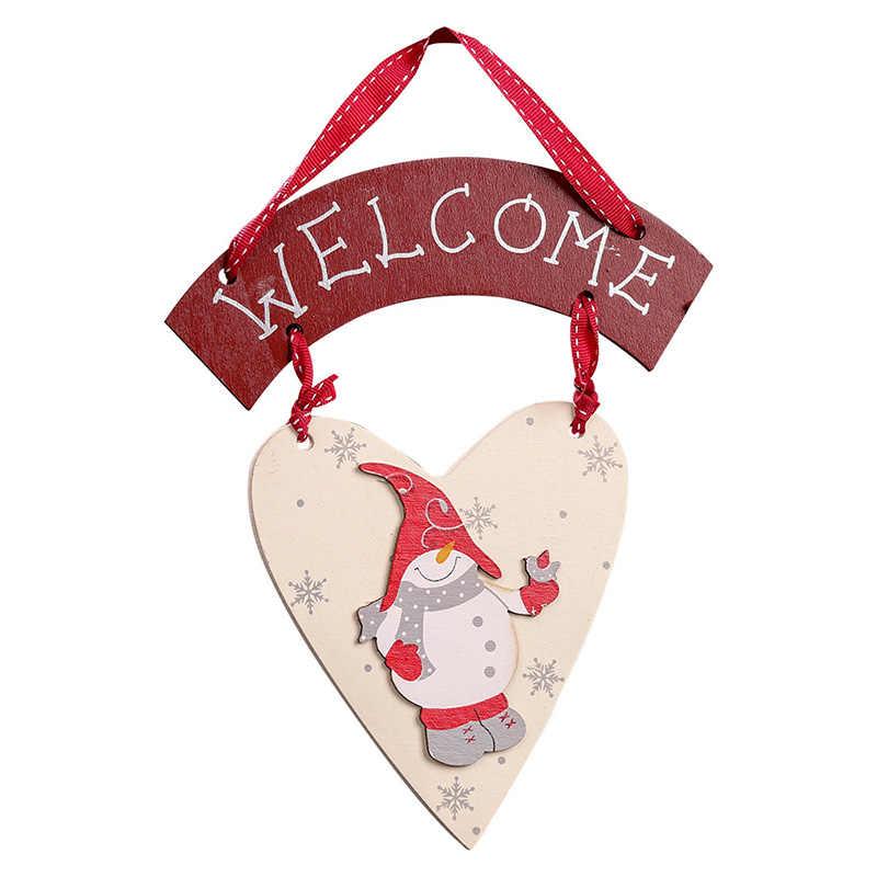 Gỗ Thủ Công Người Tuyết Giáng Sinh Treo Đồ Trang Trí Ngày Lễ Năm Mới Đảng Hoan Nghênh Các Thẻ Cho Nhà Cửa Trang Trí Cửa Sổ AF170