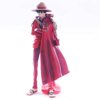 One Piece Luffy 20th Anniversary Ver. PVC Action Figure Red Cloak The Ultimate King Luffy 25CM Collectible Model Toy Doll 7 8 neca predator ultimate 30th anniversary jungle hunter pvc action figure jungle hunter unmasked collectible model doll toys