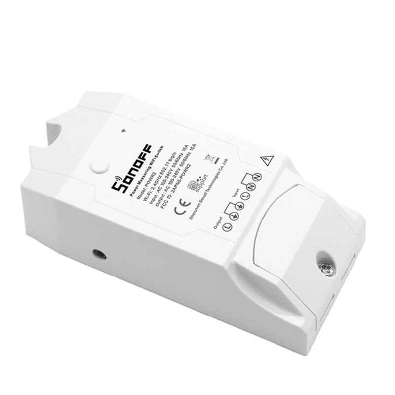 SONOFF POW R2 15A 3500W controlador de interruptor Wifi en tiempo Real Medición del Monitor de consumo de energía para la automatización inteligente del hogar