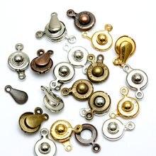 30 наборов 15x8 мм защелкивающиеся застежки для браслетов ожерелий