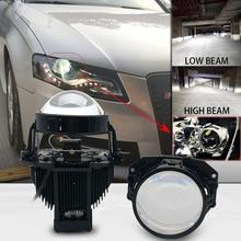Car Bi LED 3.0 inch Projector Lens universal LED Headlights High Low Beam Auto Headlamps retrofits styling for BMW Audi A3 free shipping car styling led hid rio led headlights head lamp case for toyota corolla 2014 bi xenon lens low beam