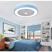 LED Mordern Bedroom Ceiling Fan Light with Remote Control Macaron Ultra thin Nordic Lighting Living Room Modern Creative Lamp