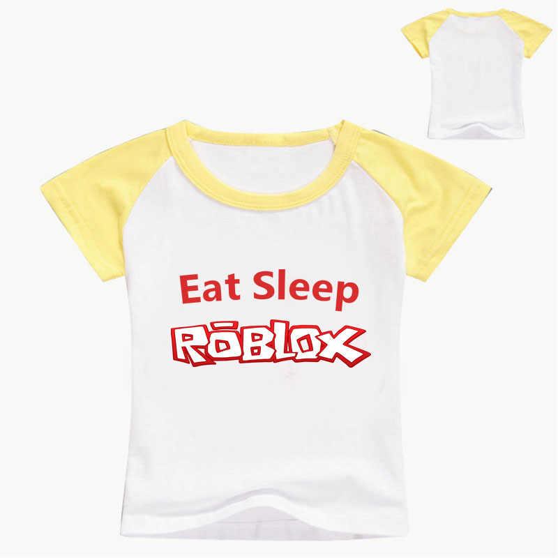 2-14 년 패션 게임 티셔츠 어린이 소년과 소녀 반팔 티셔츠 아기 키즈 코튼 탑스 소녀 옷