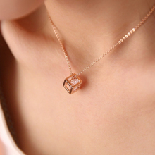 New Arrival Fashion Crystal Rhinestone Pendant Necklace For Women Silver Color Square Clavicle Wedding Jewelry