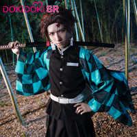 DokiDoki-SR Anime Cosplay Dämon Slayer: kimetsu keine Yaiba Cosplay Kamado Tanjirou Cosplay Dämon Slayer Kimetsu keine Yaiba Kostüm