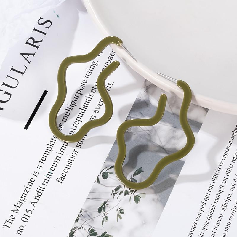 New Fashion Acrylic Dangle Drop Earrings for Women Statement Geometric Acetate Irregular Earring 2020 Summer Women Party Jewelry