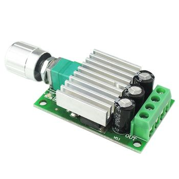 цена на 12V 24V 10A PWM DC Motor Speed Controller Adjustable Speed Regulator Dimmer Control Switch for Fan Motors LED Light