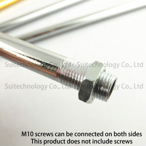 Image 3 - 2pcs Lamp floor lamp tube straight tube electroplated hollow tooth tube M10 tooth golden sliver table lamp connection tube