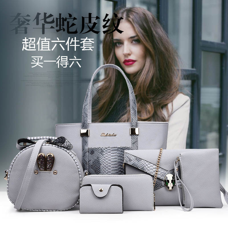 Europe And America Fashion Classic Embossed Snakeskin Shoulder Bag/ Hand Bag Cross-body Multi-functional WOMEN'S Bag Manufacture