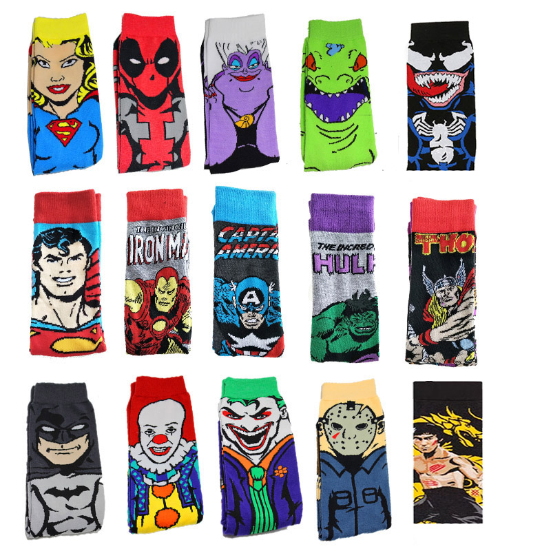 Anime Socks Happy Funny Novelty Crew Personality Cotton Men Cartoon High-Quality Fashion