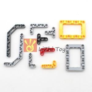Image 5 - 548PCS Blocchi Technic Parti Liftarm Fascio Croce Asse Connettore Pannello MOC Accessorio Giocattoli Giocattoli Meccanici Auto di Massa Compatibile Legoeds