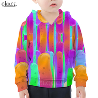 Colorful Noodles Hoodie Baby Boy 3D Print Hand Pulled Noodle Baby Girl Hoodies Childrens Tracksuit Casual Family Fitted Tops