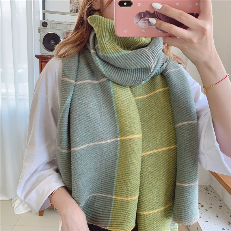 2020 New Quality Winter Warm Lady Fashion Cashmere Scarves Women Thick Beach Shawl Crumple Wrap Female Muffler Free Shipping