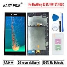 Для BlackBerry Z3 STJ100 1 STJ100 2 LCD дисплей кодирующий преобразователь сенсорного экрана в сборе Замена с рамкой