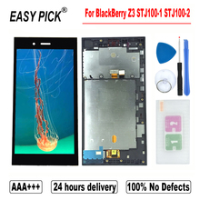 Dành Cho BLACKBERRY Z3 STJ100 1 STJ100 2 Màn Hình Hiển Thị LCD Bộ Số Hóa Cảm Ứng Thay Thế Có Khung