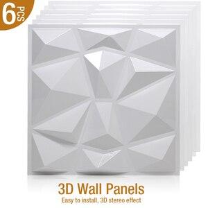 6 sztuk 30x30cm 3D Stereo naklejki ścienne ulga ściana artystyczna naklejki na panele salon kuchnia dekoracje do wnętrz do sypialni 3D naklejka ścienna