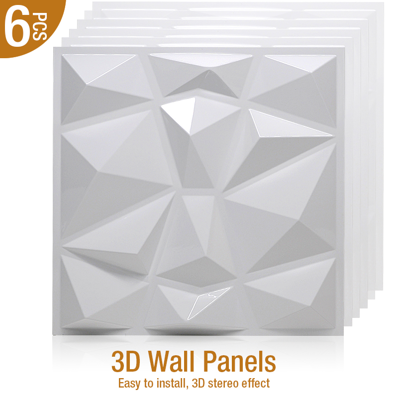 6pcs 30x30cm 3D Stereo Wall Stickes Relief Art Wall Panel Stickers Living Room Kitchen Bedroom Home Decoration 3D wall sticker