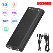 Professional Mini USB Pen Voice Activated 8GB Digital Audio Voice Recorder Mp3 Player 192Kbps Recording