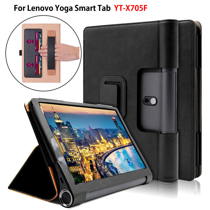 Luxury Case For Lenovo Yoga Smart Tab YT-X705F Tablet Cover Funda for Lenovo Yoga Tab 5 10.1 inch Hand Holder Stand Skin Shell image