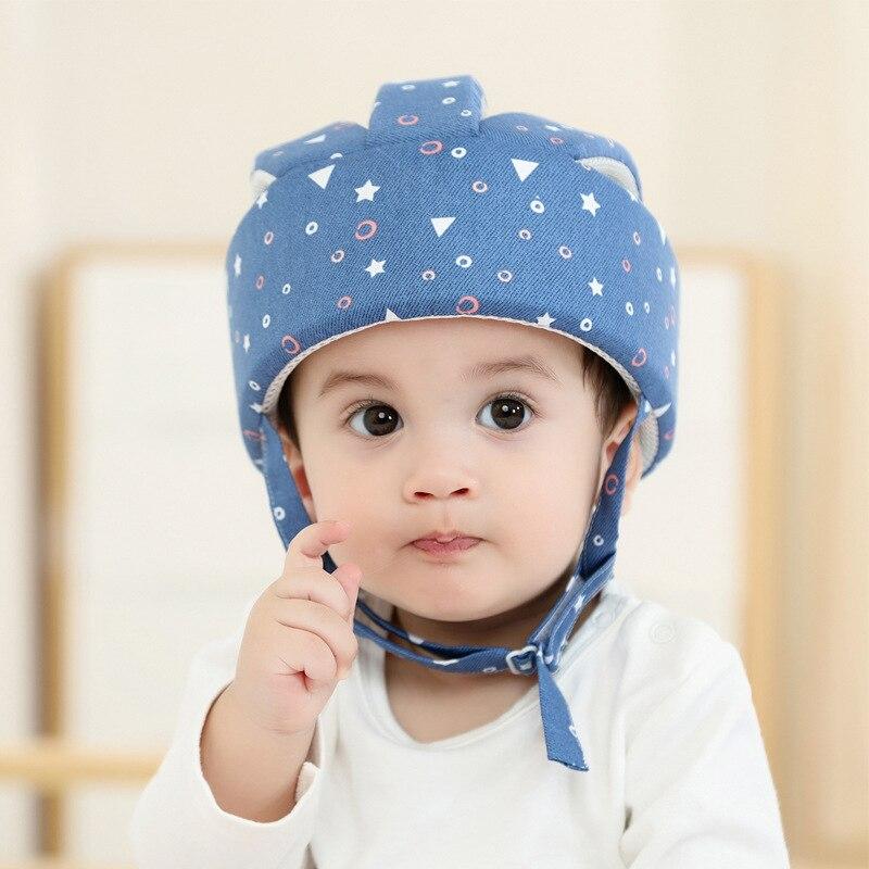 Хлопковый Детский защитный шлем для малышей, защита головы для малышей, шапка для прогулок, Ползания, детский шлем для прогулок
