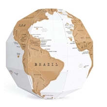 Diy Scratch Globe 3D Stereo Assembly World Map Travel Kid Child Toy Gift
