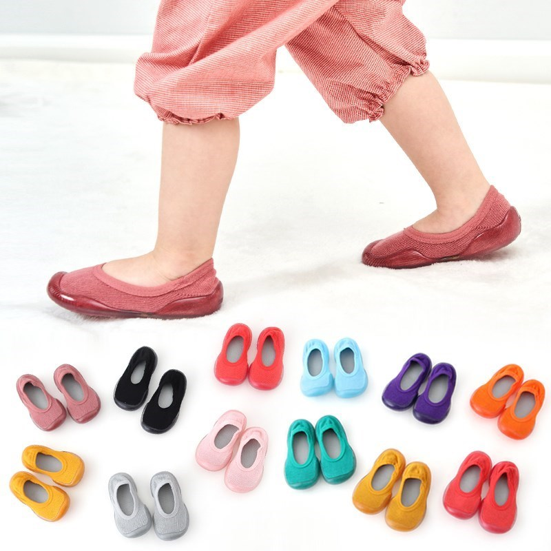 2019 New Baby Shoes Non-slip Floor Socks Baby Toddler Sock Shoes Soft Rubber Sole Baby Boy Shoes