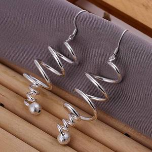 fine lady fashion silver plated earrings high quality elegant cute women Charms wedding classic jewelry hook lovly gift JSHE215
