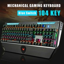 Mechanical-Gaming-Keyboard Blue-Switch Hot Swap 3-Pin-Switch-Backlight Shaft ABS USB
