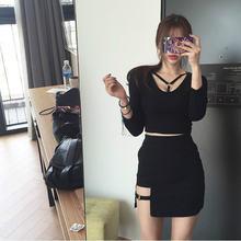 Летняя Сексуальная Асимметричная бандажная юбка с высокой талией
