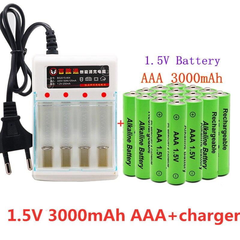 Новинка 2021, щелочная батарея AAA 3000 мАч 1,5 в, перезаряжаемая батарея AAA для пульта дистанционного управления, батарея для игрушек, Дымовой Сигн...