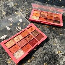 12 farben Lidschatten-palette Matte Schimmer Lidschatten Regenbogen Lidschatten Wasserdicht anhaltende Anti-schweiß-Pulver Kosmetik