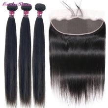 Человеческие волосы lynlyshan бразильские прямые пряди с фронтальной