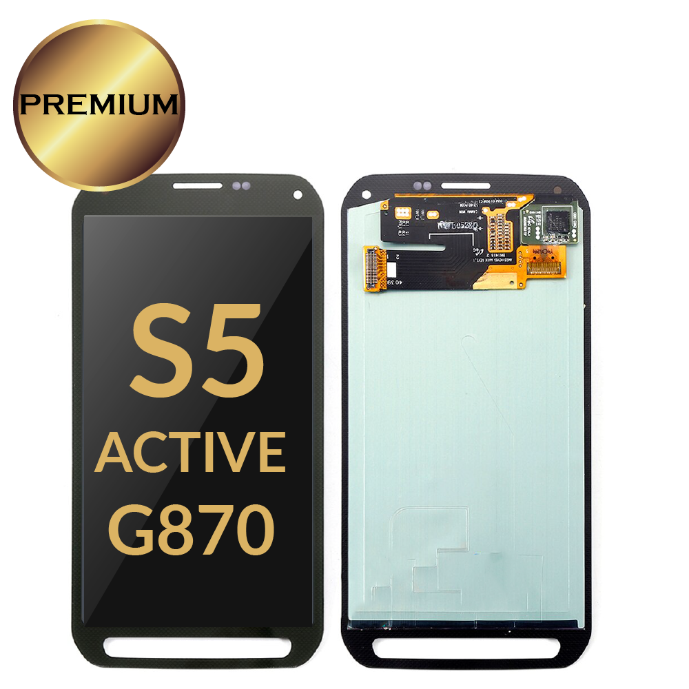 <font><b>Super</b></font> <font><b>AMOLED</b></font> Original LCD For <font><b>Samsung</b></font> Galaxy <font><b>S5</b></font> Active G870 LCDs <font><b>Display</b></font> Touch Screen Assembly 100% Tested with sticker tapes image