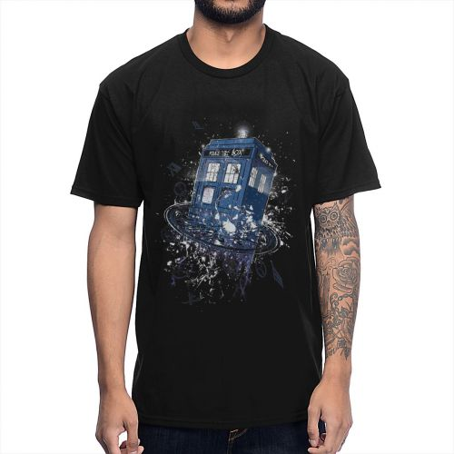 Doctor Who DR Tardis Street Guys Tops & Tees Swag 100% Cotton Camiseta Shirt Male Graphic Short Sleeve 2020 Summer New T Shirt