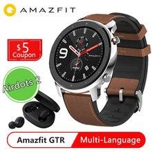 Глобальная версия умных часов Huami Amazfit GTR 47 мм, умные часы с 12 спортивными режимами, GPS, 24 дневной батареей