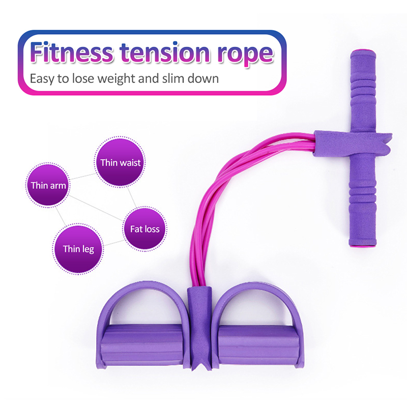 Hottest Yoga Accessories Anti-slip Pedal Resistance Bands Multi-Function Tension Rope Pilate Yoga Belts Gym Fitness Equipment