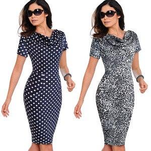 Image 3 - נחמד לנצח נשים בציר ללבוש לעבודה אלגנטית vestidos המפלגה עסקי Bodycon נדן משרד לפרוע נשי שמלת B452