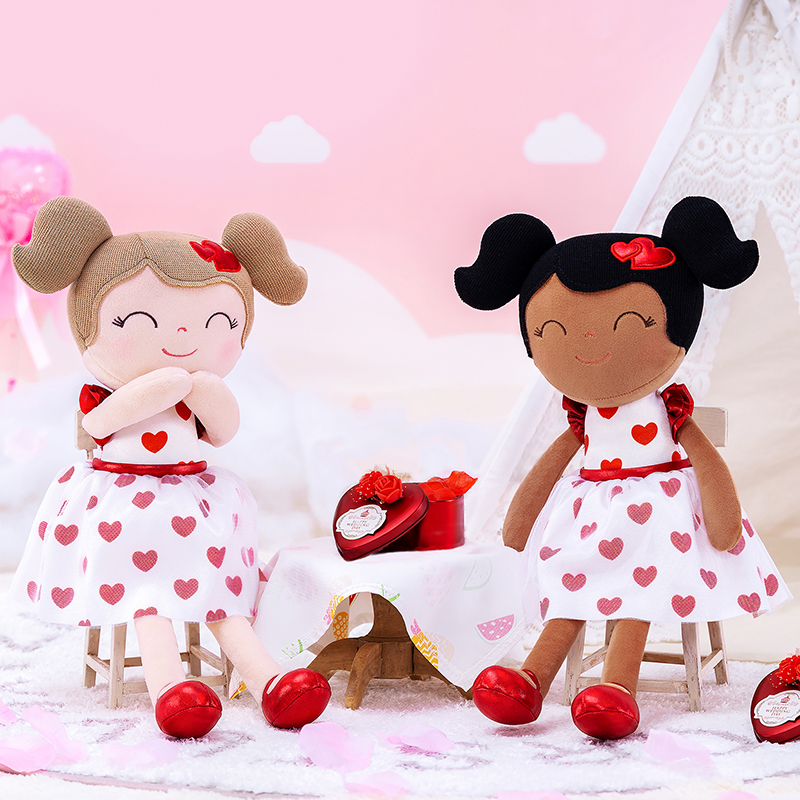 Baby Girl Cloth Dolls Kids Plush Toys Sweet Love Gifts Just6F
