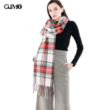 цена на [OuMo] Brand tassel Thicken Long Soft Warm scarf women shawls snood hijab Women shawl bandana Print scarf women kerchief 200*68